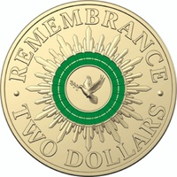 2018 $2 Remembrance Dove (Green)
