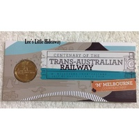 2017 $1 Centenary of the Trans-Australian Railway 'M' Melbourne Counterstamp