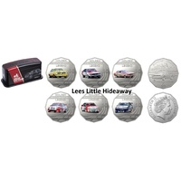 2018 Holden Motorsport 7 Coin Collection with collectors tin